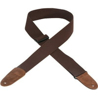 "Levy's MC8-BRN 2"" Basic Cotton Guitar/Bass Strap w/ Leather Ends - Brown"