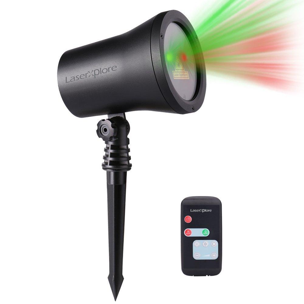 Qedertek laser Christmas laser light Landscape Laser Lights,Red & Green Wireless Control Star Projector,20 Patterns 43ft IP65 Waterproof Landscape Lighting