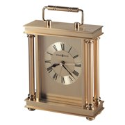 """Howard Miller 645584 Polished Brass 7-1/2"""" X 5-1/4"""" Audra Brass And Metal Analog Table Top"""