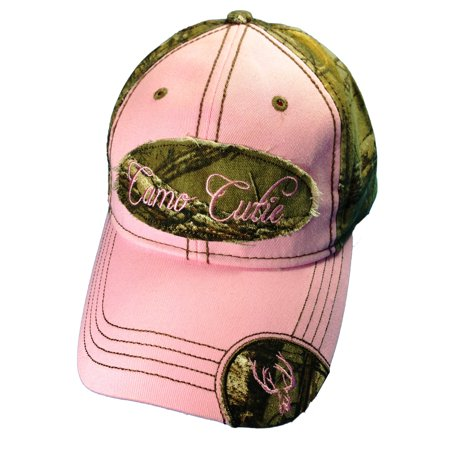 Camo Cutie (Camo Cutie Cap Womens Realtree Camo Cap with pink front and camo logo  Plus Free)