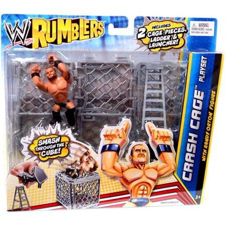 Crash Cage Mini Figure Playset With Randy Orton Rumblers Series 2