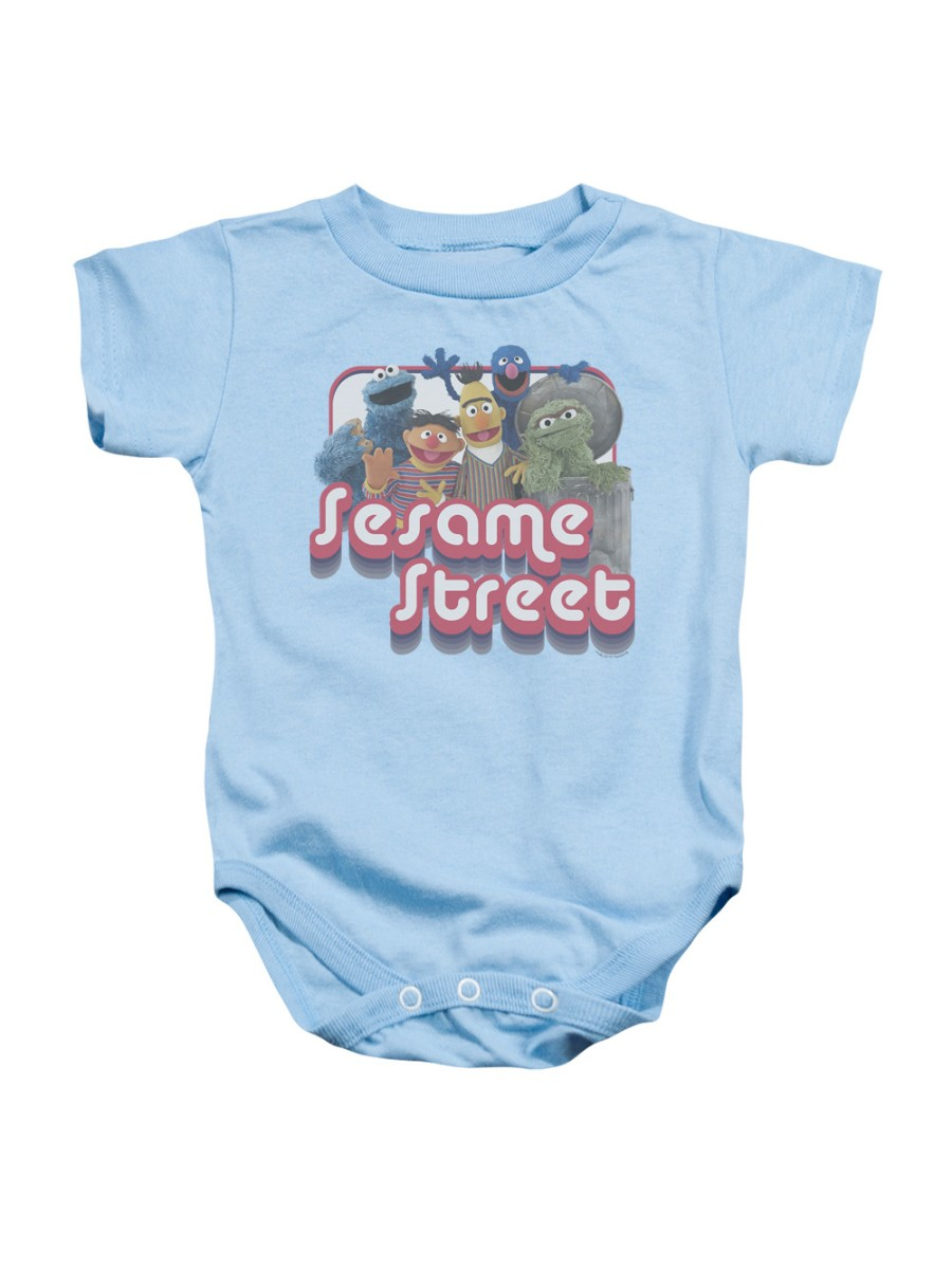Sesame Street Classic TV Show Groovy Group Puppets Infant Romper Snapsuit