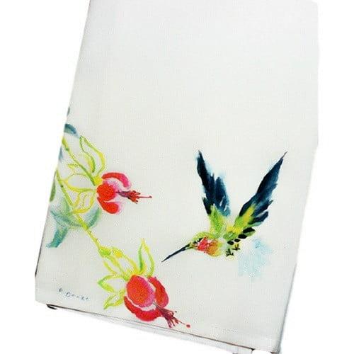 Betsy Drake Interiors Garden Hummingbird Hand Towel (Set of 2)