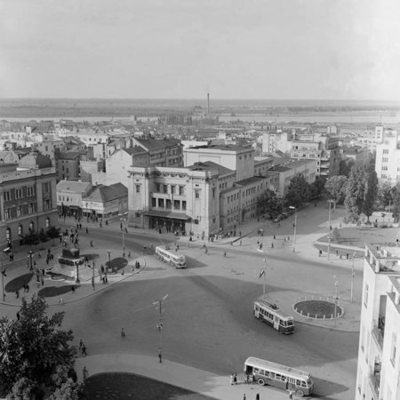 Aerial View Of The Square Of The Republic Photographic Print By Julius Humi