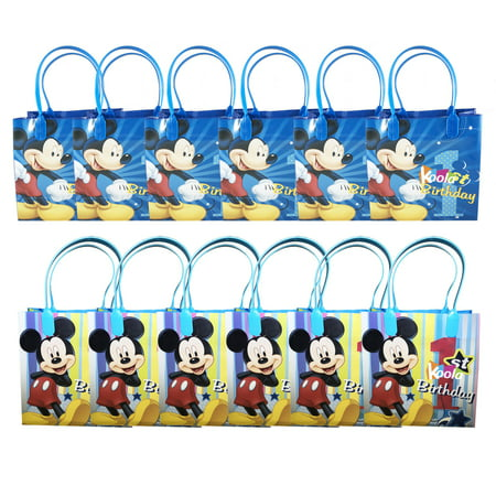 1st Birthday Party Loot Bags - Disney Mickey Mouse 1st Birthday Party Loot Bags Birthday Goody Fun Gift Bag 12pcs