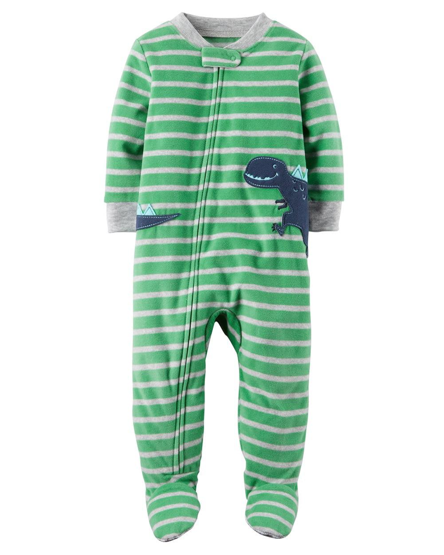 Carter's Little Boys' 1 Piece Dinosaur Fleece Pajamas, 3-Toddler