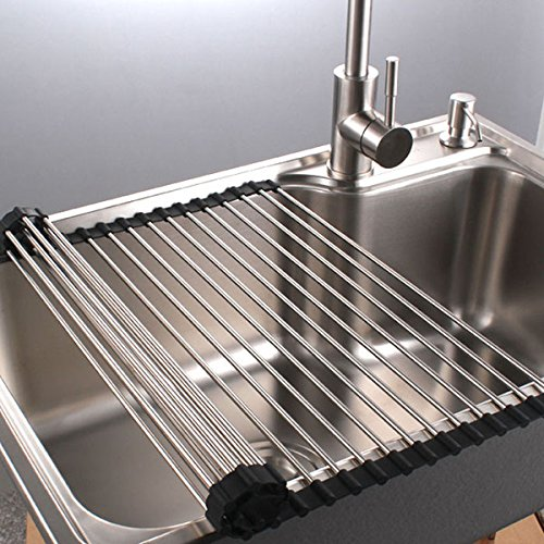 Gentil PremiumRacks Stainless Steel Over The Sink Dish Rack   Roll Up   Durable    Multipurpose   New Product 2/26/17   Walmart.com