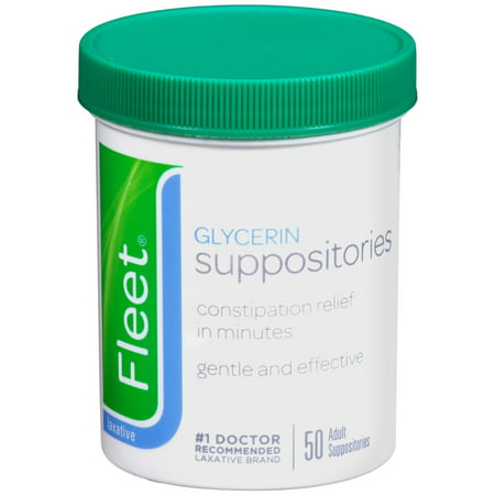 Adult Glycerin Suppositories, 50 Count Jars