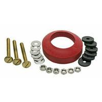 Fluidmaster Toilet Tank To Bowl Universal Gasket Brass Mounting Kit
