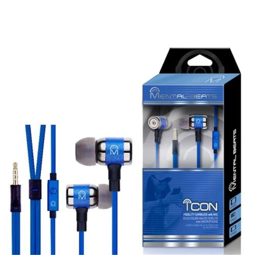Mental Beats 678 Mental Beats Icon Earbuds, Blue