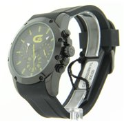 CX328023BKYL Mens Rubber Chronograph Yellow Markers Watch