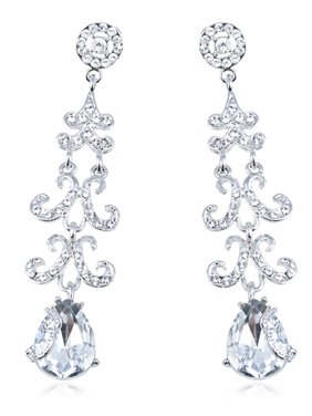 8fa8e436988 Product Image Genuine Crystal Elements Bridal Collection Trendy Fashion  Earrings