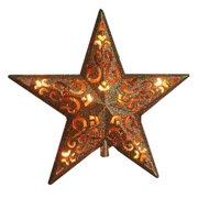 V49136 Christmas Tree-Top Star, Gold Glitter, 10-Light - Quantity 1