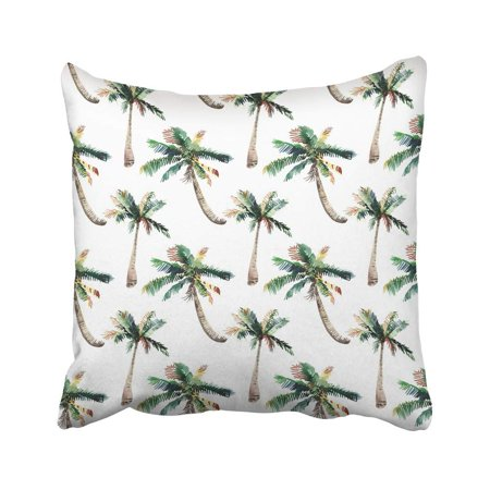 BSDHOME Beautiful Bright Cute Green Tropical Lovely Wonderful Hawaii Floral Herbal Pillow Case Pillow Cover 18x18 inch Throw Pillow Covers - image 1 of 1