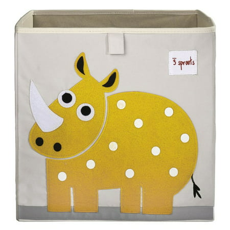 3 Sprouts Rhino Storage Box - Yellow Vinyl Non Storage