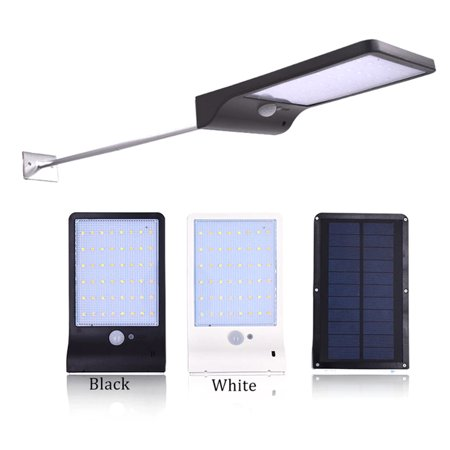 48 LEDs Solar Powered Wall Light PIR Motion Sensor with Remote Control Outdoor IP65 Water-resistant Street Lamp for Patio Pathway Garden - image 3 de 7