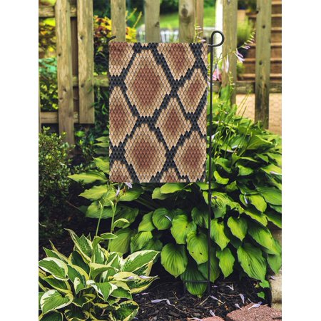 POGLIP Snakeskin Pattern Showing Scale Detail Geometric Diamond Formation in Shades Garden Flag Decorative Flag House Banner 28x40 inch - image 2 of 2