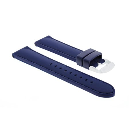 20MM RUBBER DIVER WATCH BAND STRAP FOR 36MM ROLEX DATE, DATEJUST BLUE 5P