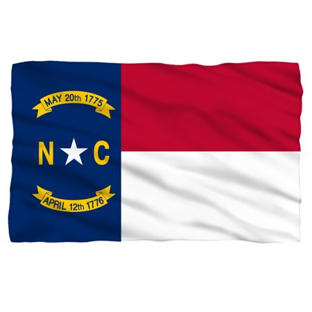 North Carolina Flag Fleece Blanket