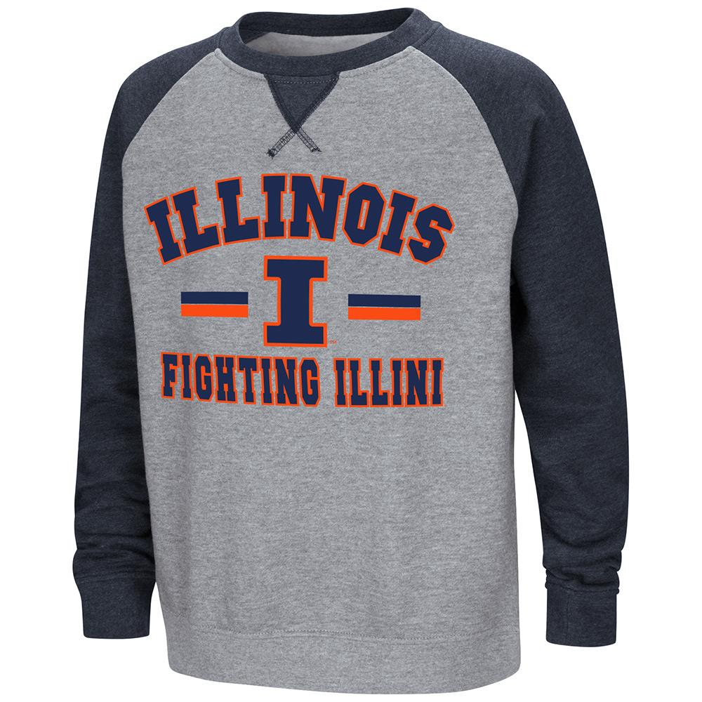 Youth Illinois Fighting Illini Fleece Crewneck Sweatshirt - S