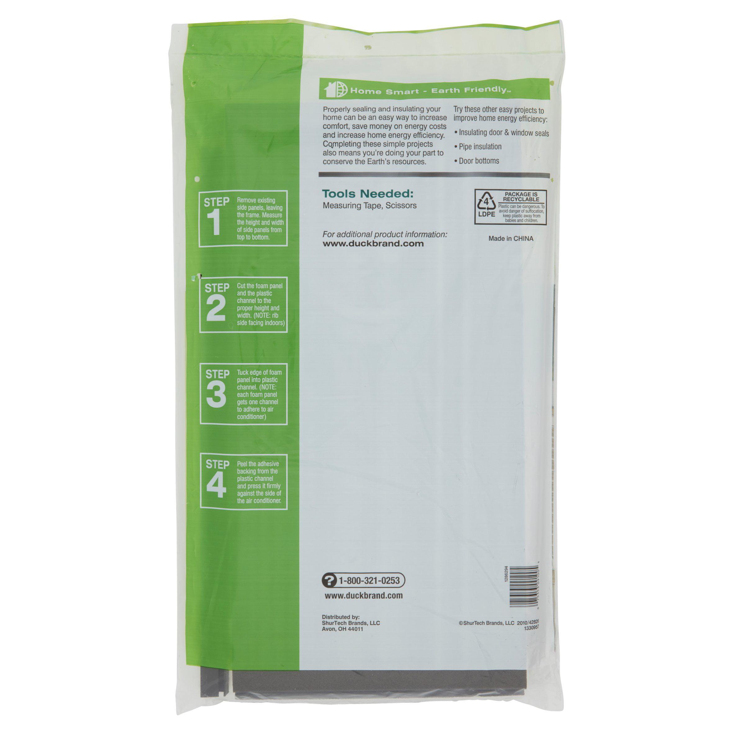 Air Conditioner Foam Insulating Panels : Duck brand foam air conditioning insulating side panels ebay