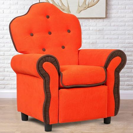 Children Recliner Kids Sofa Chair Couch Living Room Furniture Orange - image 9 de 9