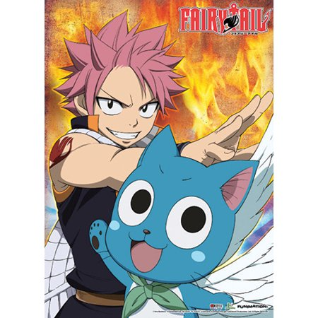 Wall Scroll - Fairy Tail - New Natsu & Happy Ready Wall Art Licensed ge60632