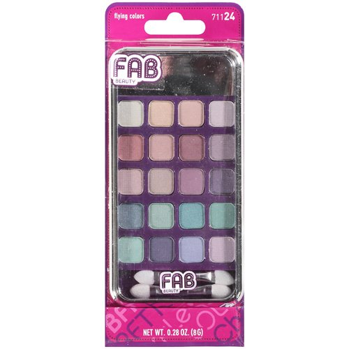Fab Beauty She She Eye Shadow Palette, Flying Colors, 0.25 oz