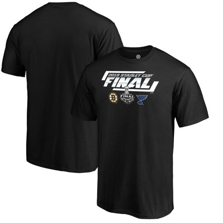 St. Louis Blues vs. Boston Bruins Fanatics Branded 2019 Stanley Cup Final Dueling Forechecking Matchup T-Shirt -