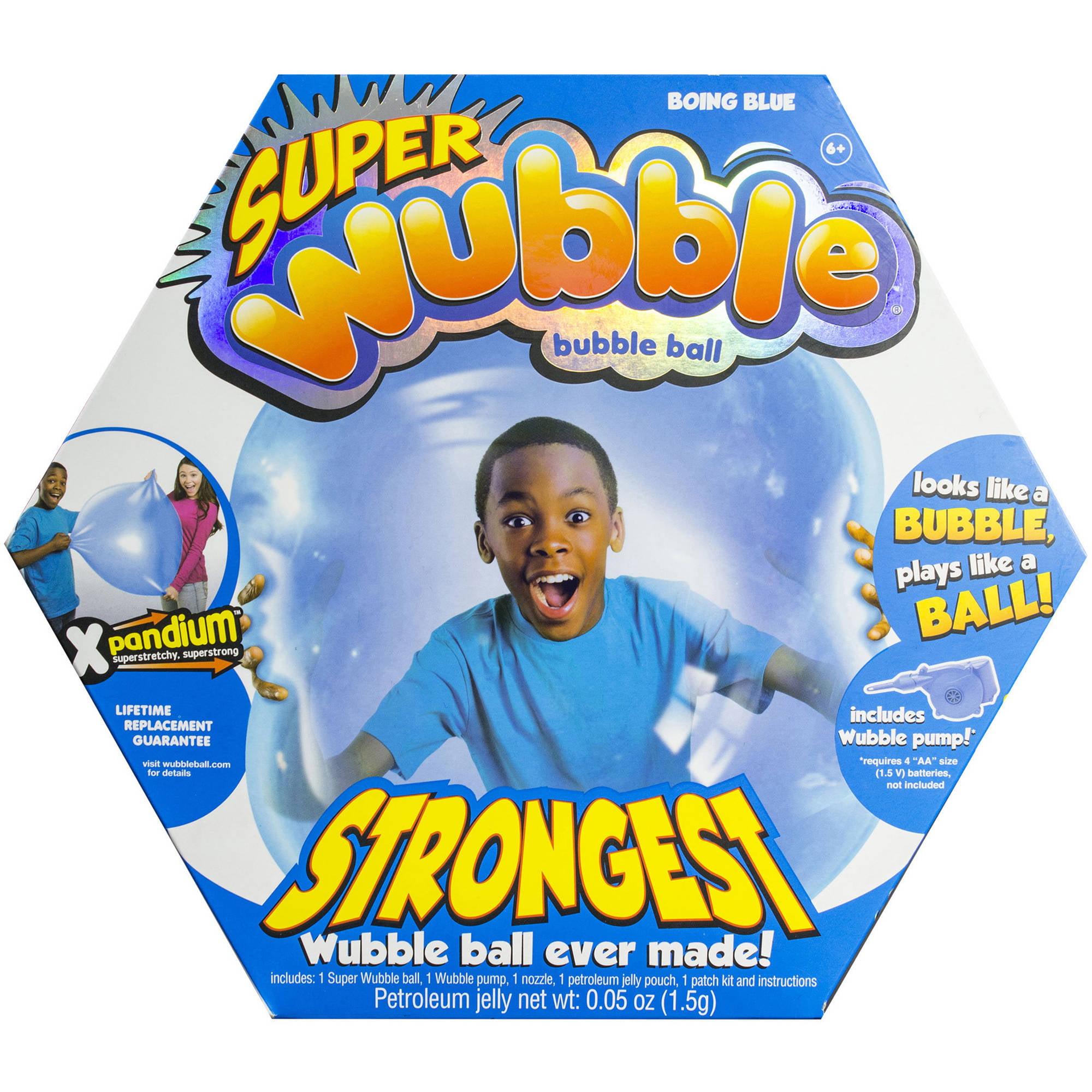 Blue Super Wubble Ball with Pump