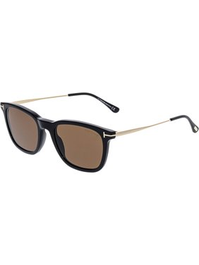 a13473ab17 Product Image Tom Ford Men s Arnaud-02 FT0625-01E-53 Black Rectangle  Sunglasses