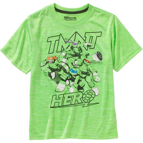 Teenage Mutant Ninja Turtle Hero Cationic Boys' Poly Graphic Tee