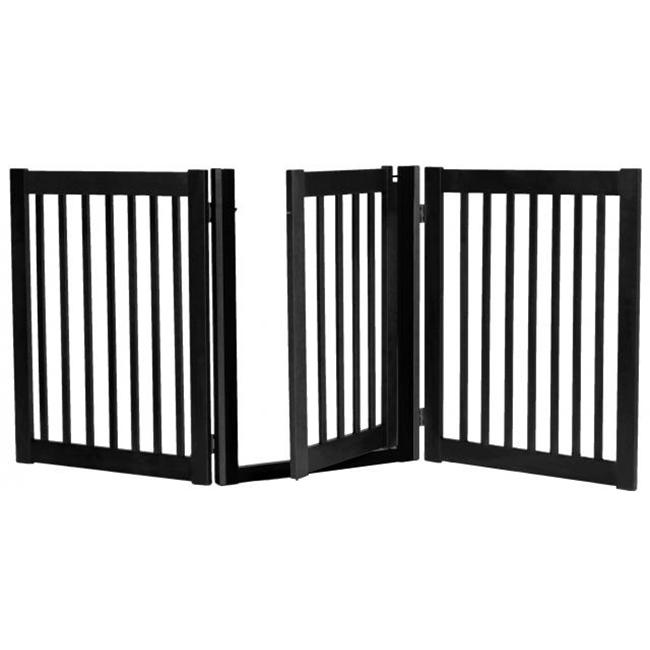 Essential Pet Products 42424 Three Panel Walk Thru Pet Gate - Black