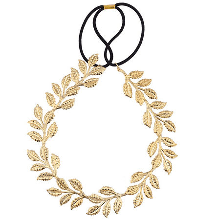 Lux Accessories Goldtone Goddess Leaf Head wrap