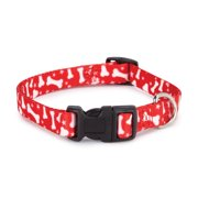 Casual Canine Patterns Collar Bone 18-26in Red