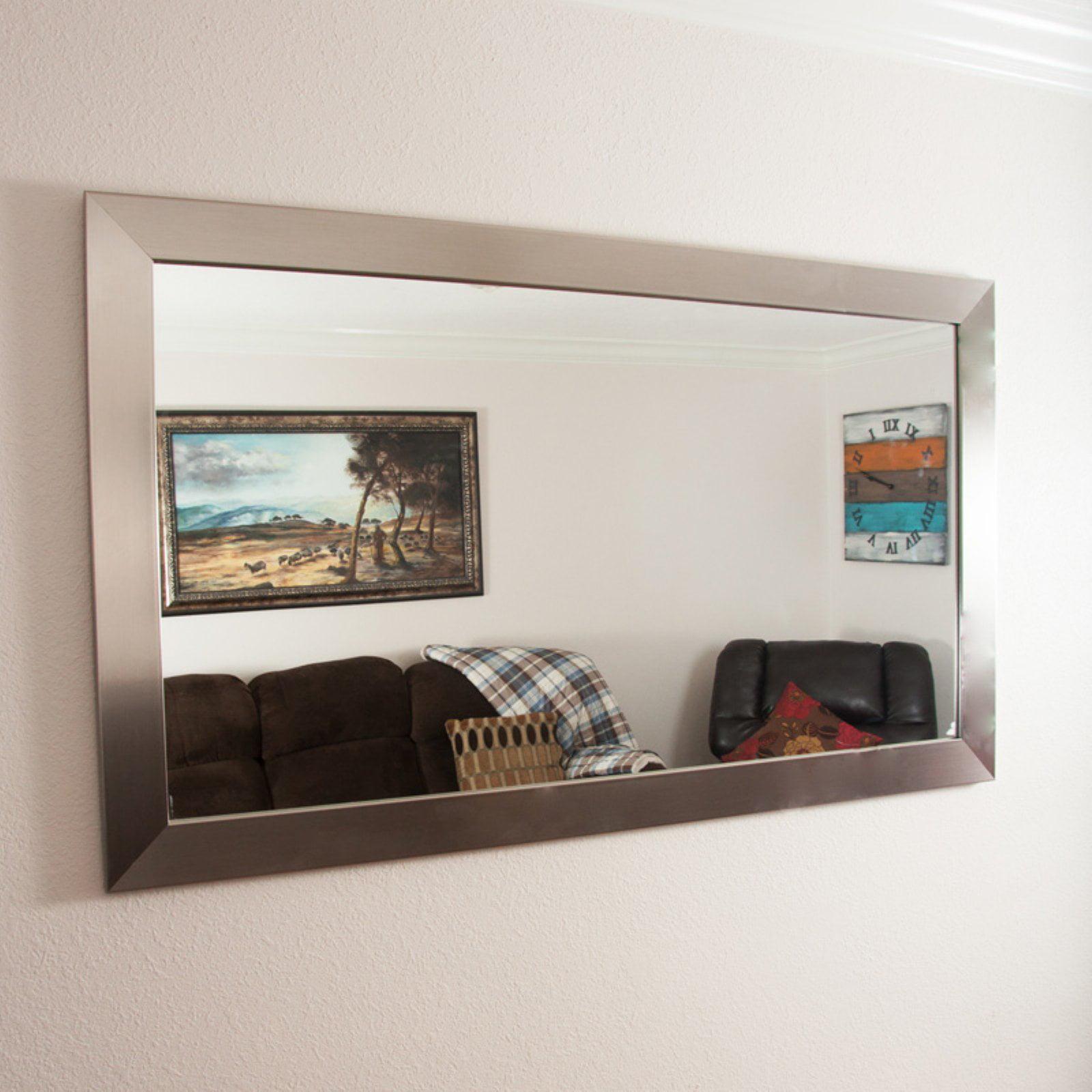 BrandtWorks Designers Choice Modern Wall Mirror Silver by Brandt Works LLC