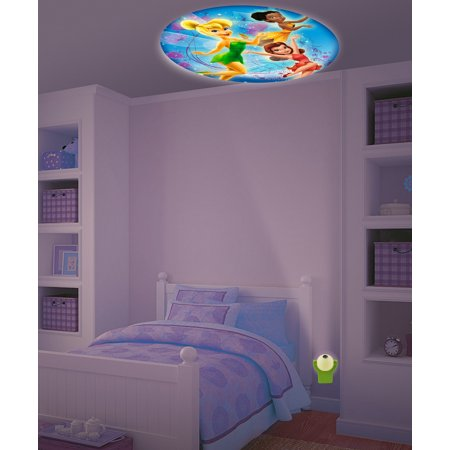 Disney Fairies Tinkerbell & Friends Projectables LED Plugin Night Light - an image of Tinkerbell, Iridessa & Rosetta is projected out of the Night