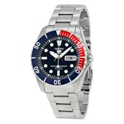 Seiko Men's 5 Automatic SNZF15K Black Stainless-Steel Automatic Dress Watch