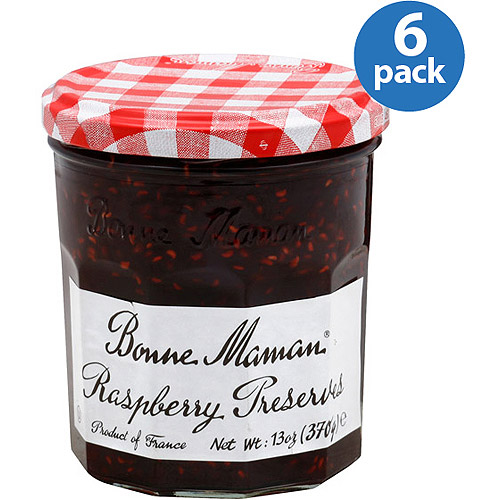 Bonne Maman Raspberry Preserves, 13 oz, (Pack of 6)