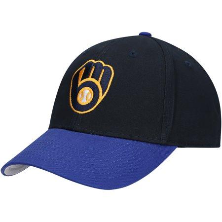 Men's Navy/Royal Milwaukee Brewers Two-Tone Basic Adjustable Hat - OSFA Single Soft Heat Brewer