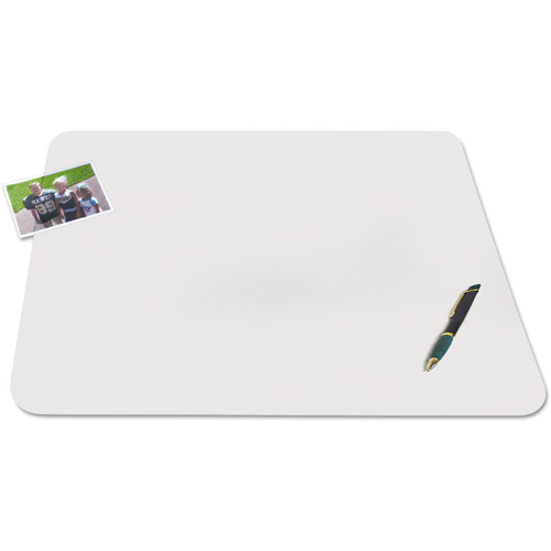 "Artistic KrystalView Desk Pad with Microban, 24"" x 19"", Matte, Clear"