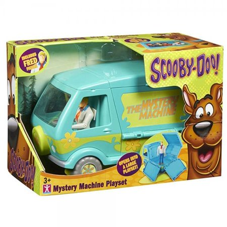 scooby doo mystery machine playset with fred figure by character options