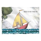 Where The Wild Things Are Max'S Boat (Front Back Print) Poly 20X28 Pillow Case White One Size