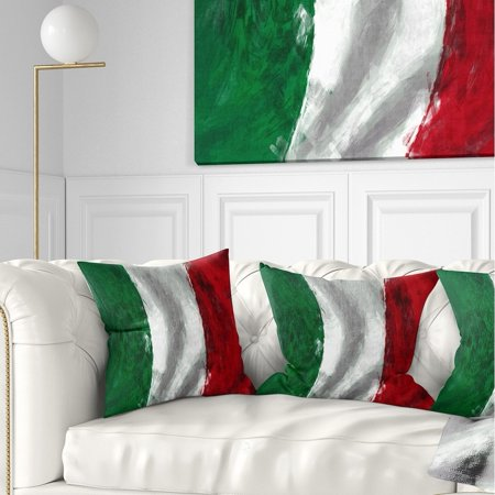 DESIGN ART Designart \'Italy Flag\' Contemporary Throw Pillow