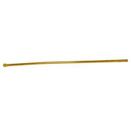 20 in. Bullnose Lavatory Supply Line  Polished Brass