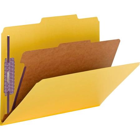 Smead Pressboard Classification Folder with SafeSHIELD® Fasteners, 1 Divider, 2