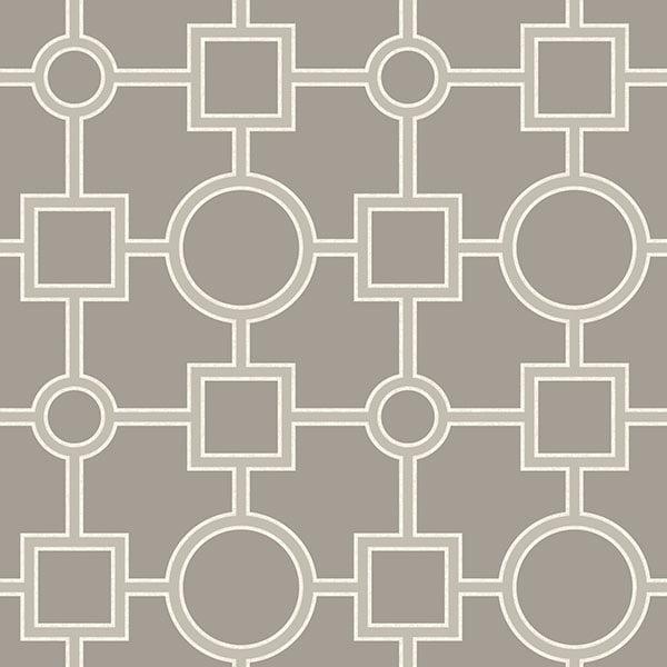 NuWallpaper Utopia Geo Taupe Peel & Stick Wallpaper