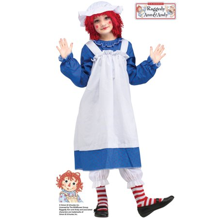 Raggedy Ann and Andy Ann Girls' Child Halloween Costume