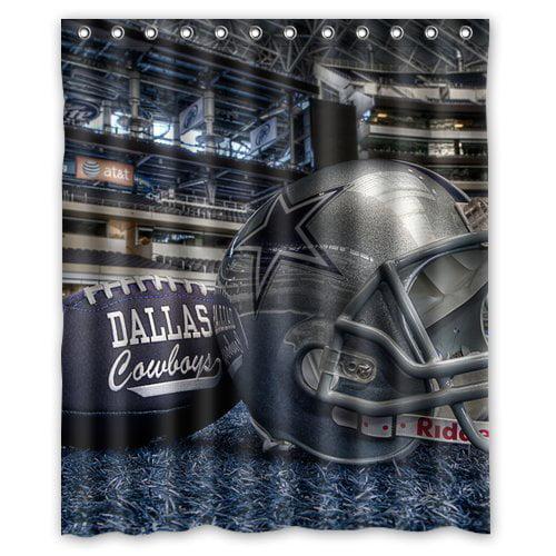 DEYOU Dallas Cowboys Shower Curtain Polyester Fabric Bathroom Shower Curtain Size 60x72 inch