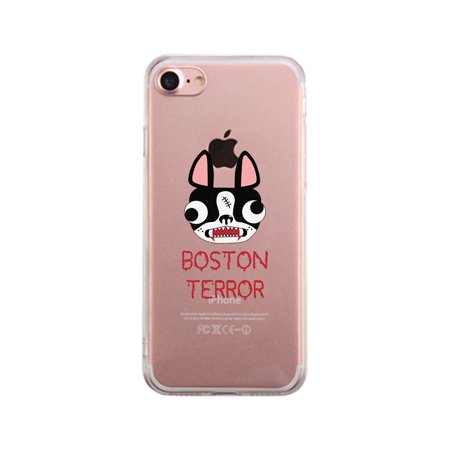 Boston Terror Terrier Clear Phone Case](Halloween Phone)
